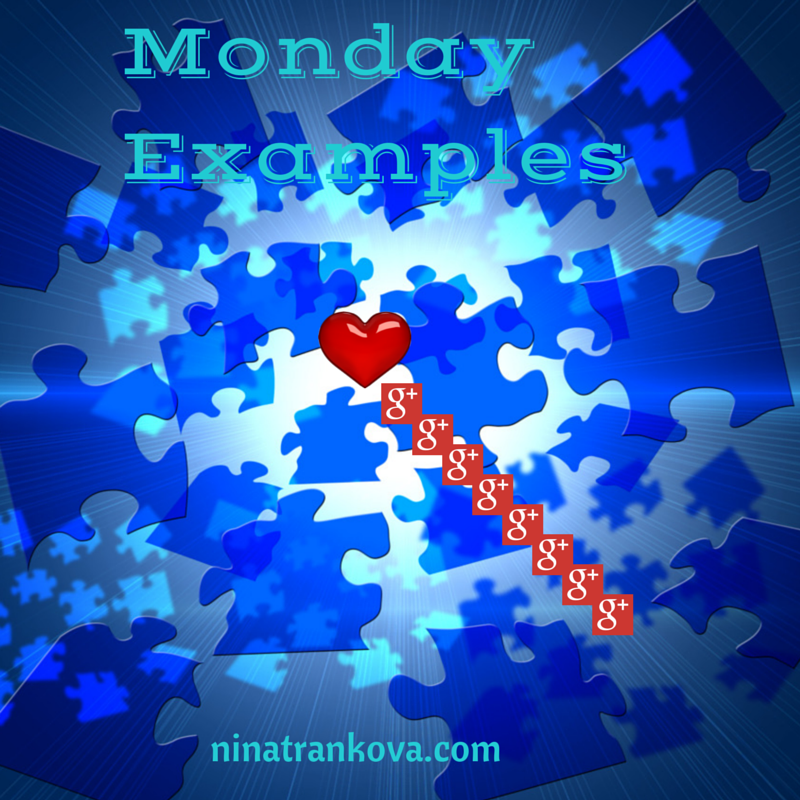 Monday Examples on Google+
