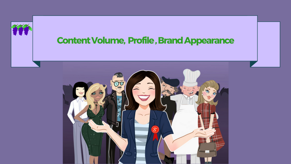 Content Volume, Profile, Brand Appearance