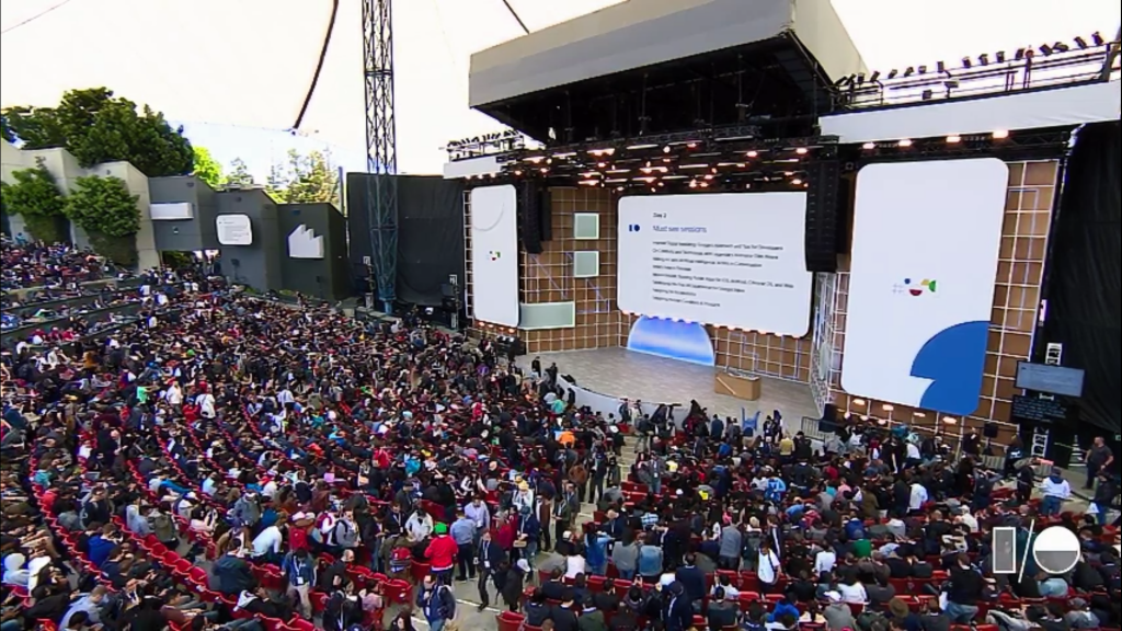 Stage at Google I/O 2019